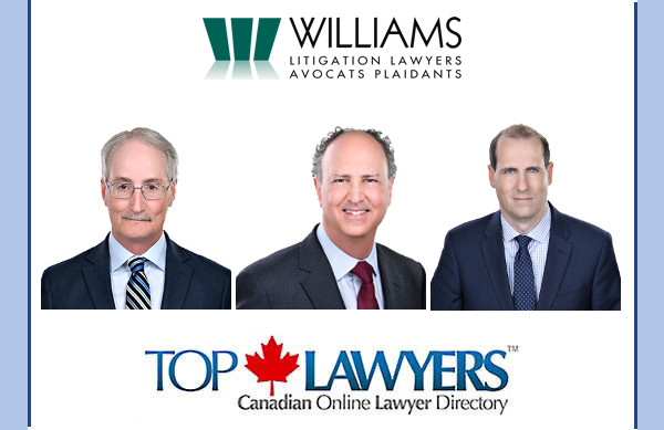 We welcome three Ottawa personal injury lawyers from Williams Litigation