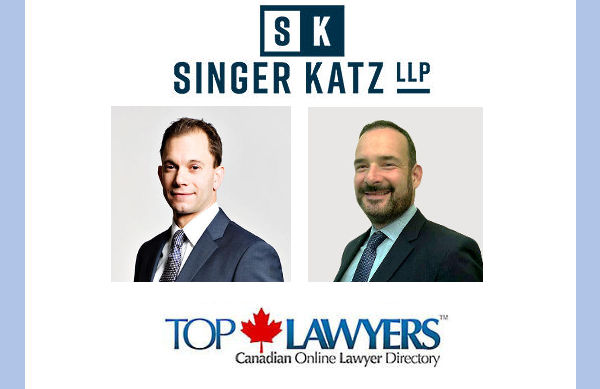 We Welcome the Founding Partners of Singer Katz ton Top Lawyers + Top Personal Injury and Insurance Lawyers Toronto